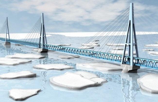 Строительство моста через Лену