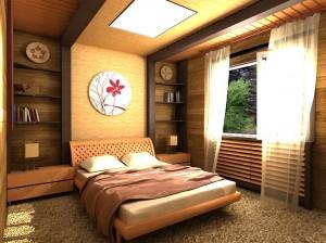 Грамотное оформление спальни в загородном доме