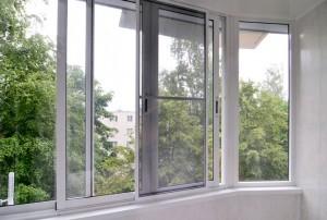 Раздвижные алюминевые окна
