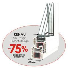 Пластиковые окна Rehau Sib Design