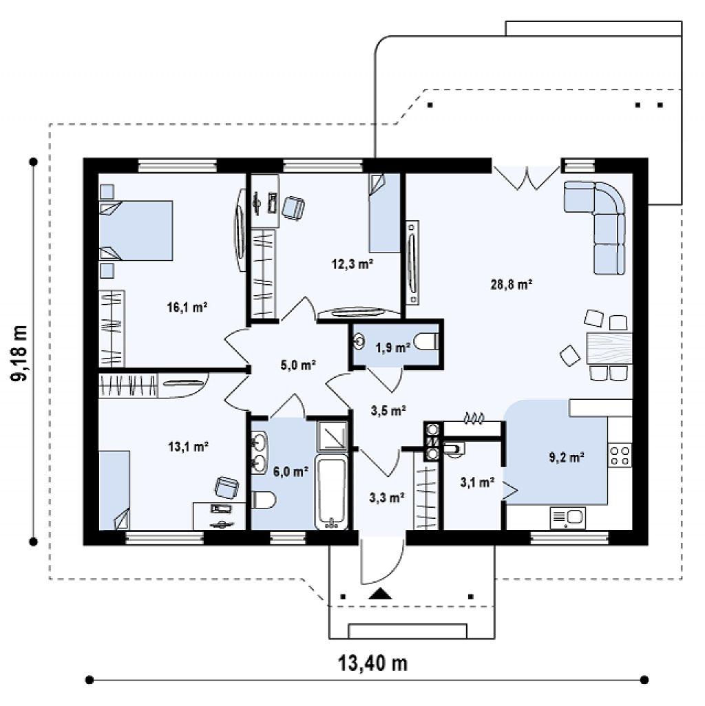 Как сделать проект одноэтажного дома