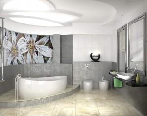 Обустройство просторной ванной комнаты
